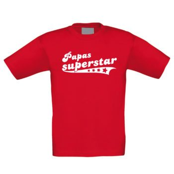 Kinder T-Shirt - Papas Superstar