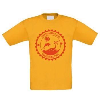 Kinder T-Shirt - Sommerparadis 2016 - Sonne ohne Ende