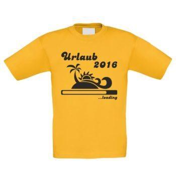 Kinder T-Shirt - Urlaub 2016 ...loading
