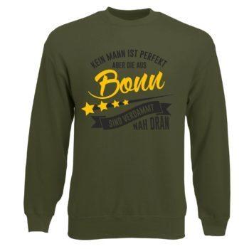 Herren Sweatshirt - Kein Mann ist perfekt aber die aus Bonn sind nah dran