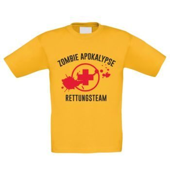 Kinder T-Shirt - Zombie Apokalypse Rettungsteam