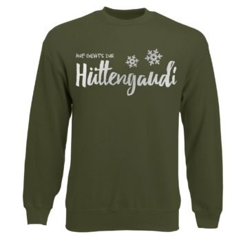 Herren Sweatshirt - Auf geht's zur Hüttengaudi