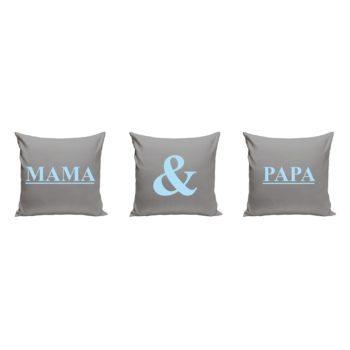 Mama und Papa - 3 x Dekokissen für Eltern