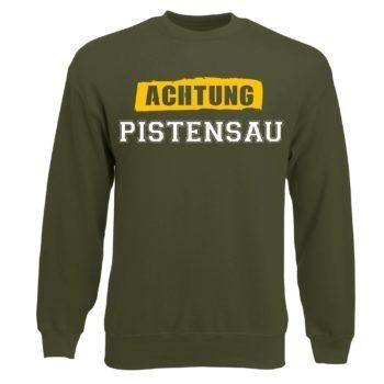 Herren Sweatshirt - Achtung Pistensau - Basic