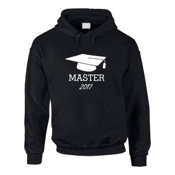 Herren Hoodie Abschluss Master 2017