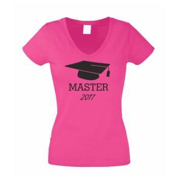 Damen V-Ausschnitt T-Shirt - Abschluss Master 2017