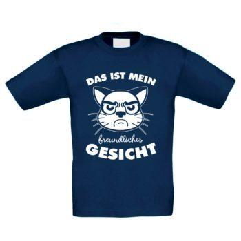 Kinder T-Shirt - Das ist mein freundliches Gesicht