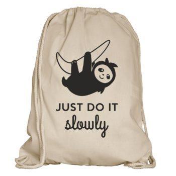 Faultier Turnbeutel - Just do it slowly
