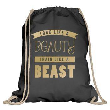 Turnbeutel - Look like a Beauty, train like a Beast