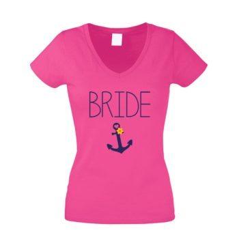 JGA T-Shirt Damen V-Ausschnitt - Bride Anchor