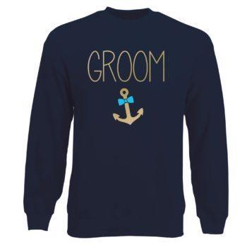 JGA Herren Sweatshirt - Groom Anchor