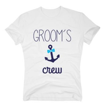 GA Herren T-Shirt - Groom's Crew Anchor