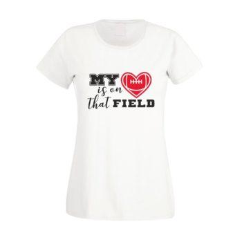 Damen T-Shirt - My heart is on that field