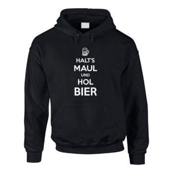 Herren Hoodie - Halt's Maul und hol Bier