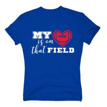 Herren T-Shirt - My heart is on that field