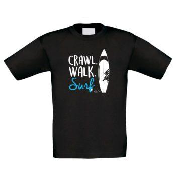 Kinder Surf-Shirt - Crawl. Walk. Surf.